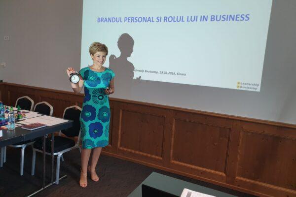 Despre brandul personal, la BD Leadership Bootcamp, august 2019